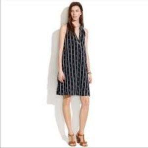 Madewell Ikat Striped Halter Dress